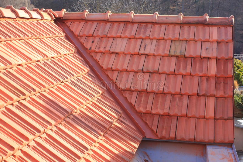 Nieuw dak stock fotografie