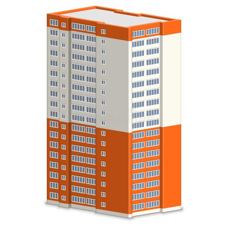 Nieuw de bouwflatgebouw royalty-vrije illustratie