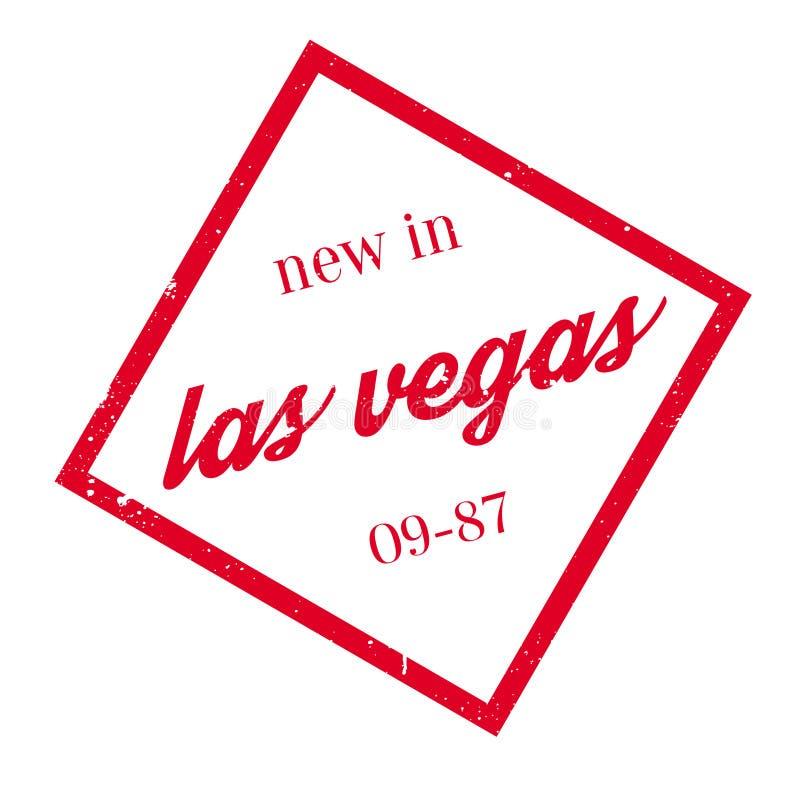 Nieuw in de rubberzegel van Las Vegas stock illustratie
