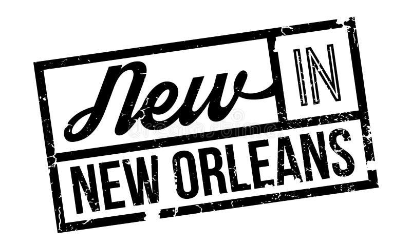 Nieuw in de rubberzegel van New Orleans vector illustratie