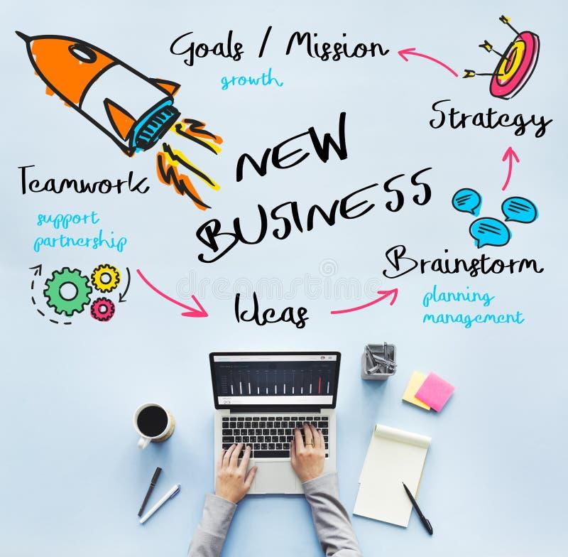 Nieuw de Vooruitgangsconcept van de Bedrijfsvoltooiingsorganisatie stock afbeelding