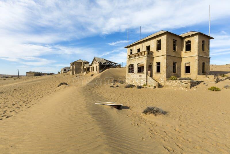 Nieuw duin in Kolmanskop royalty-vrije stock foto