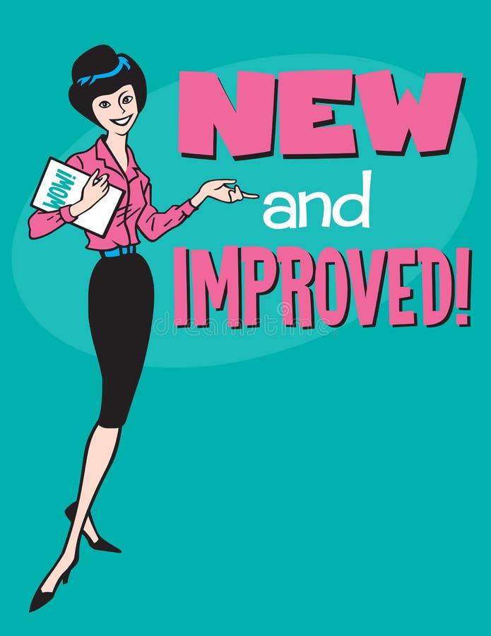 Nieuw en Beter retro ontwerp stock illustratie