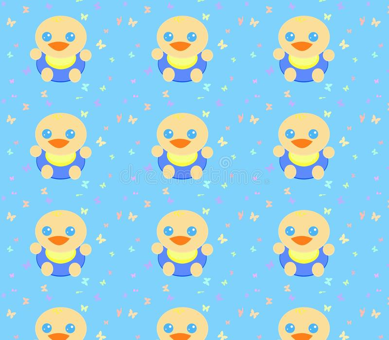 Nieuw - geboren babypatroon stock illustratie