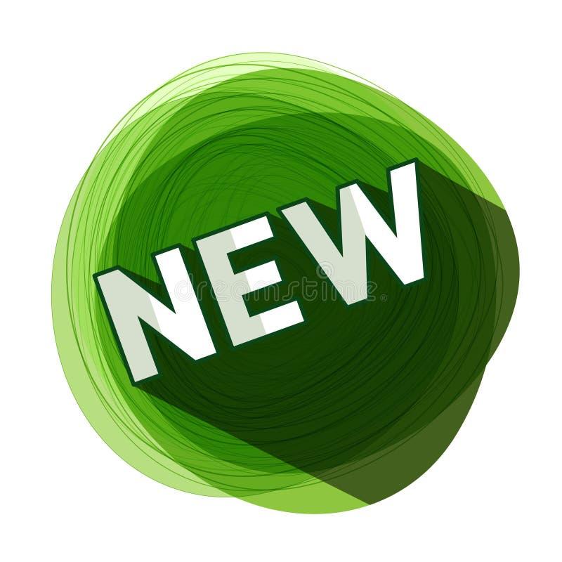 Nieuw groen etiket Vector royalty-vrije illustratie