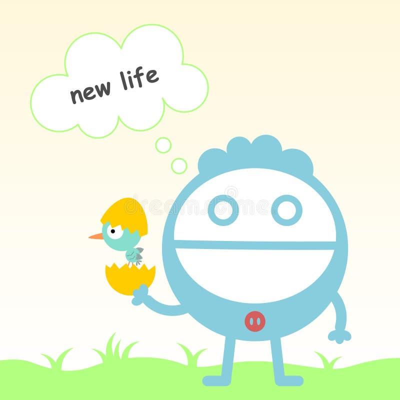 Nieuw - het geboren leven vector illustratie