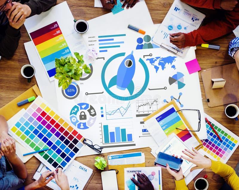 Nieuw het Groepswerk Globaal van de Bedrijfs bedrijfsgrafiekinnovatie Concept royalty-vrije stock afbeeldingen