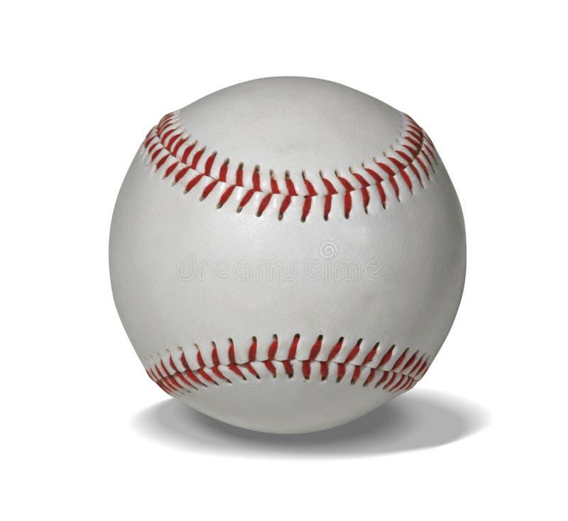 Nieuw honkbal met weg stock afbeeldingen