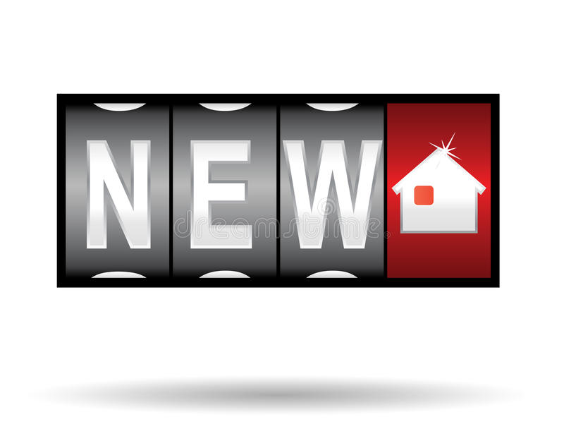 Nieuw huis vector illustratie