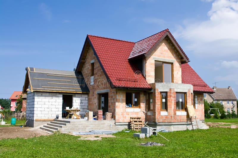 Nieuw huis stock foto