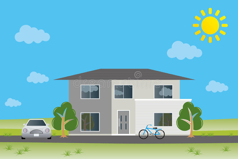 Nieuw huis royalty-vrije illustratie