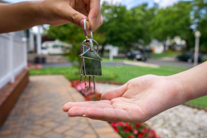 Nieuw huis ower royalty-vrije stock afbeeldingen