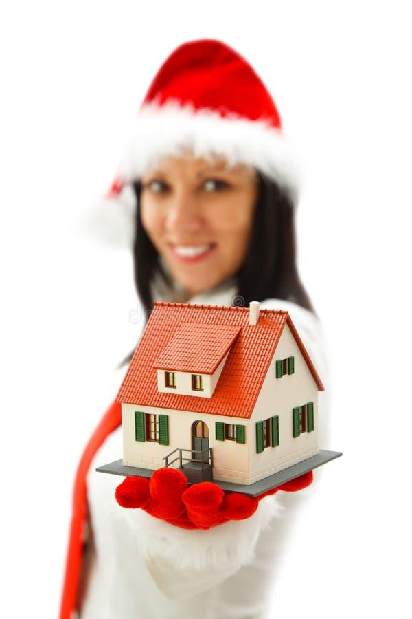 Nieuw huis voor Kerstmis royalty-vrije stock afbeelding