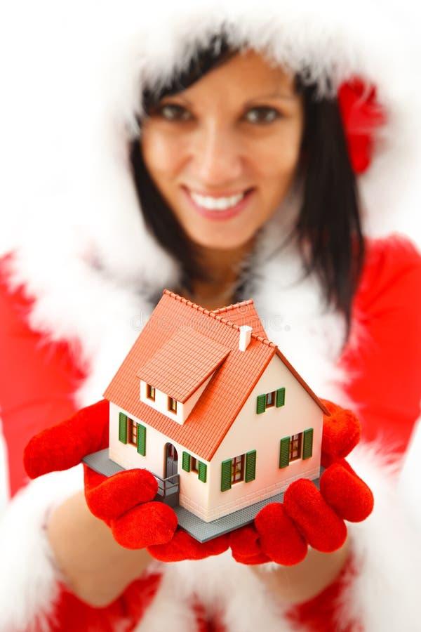 Nieuw huis voor Kerstmis stock fotografie