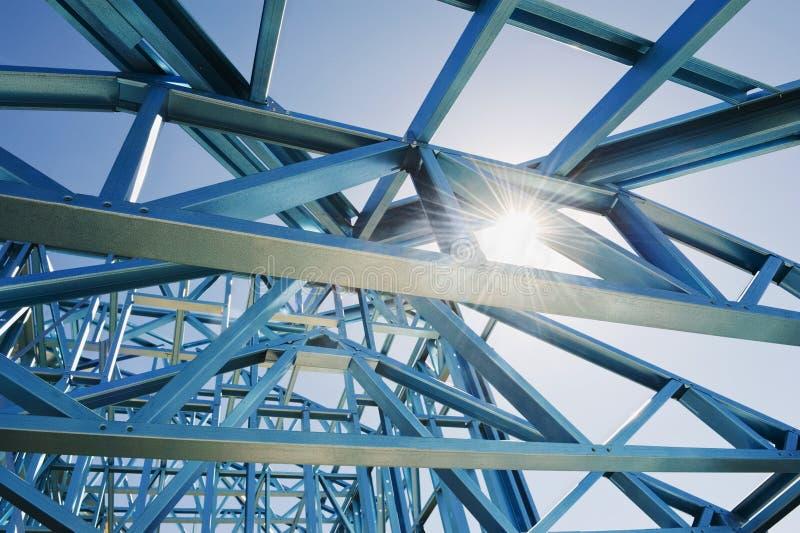 Nieuw huisbouw frame. stock afbeelding