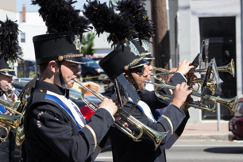 Nieuw Hyde Park Memorial Band stock foto