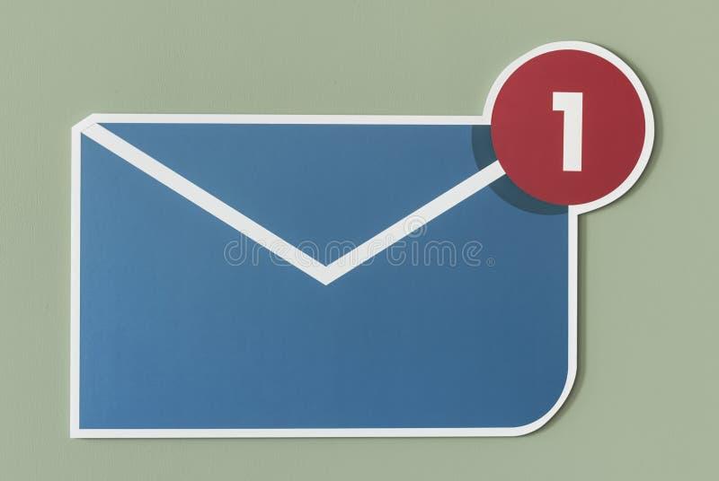 Nieuw inkomend berichte-mail pictogram royalty-vrije stock fotografie
