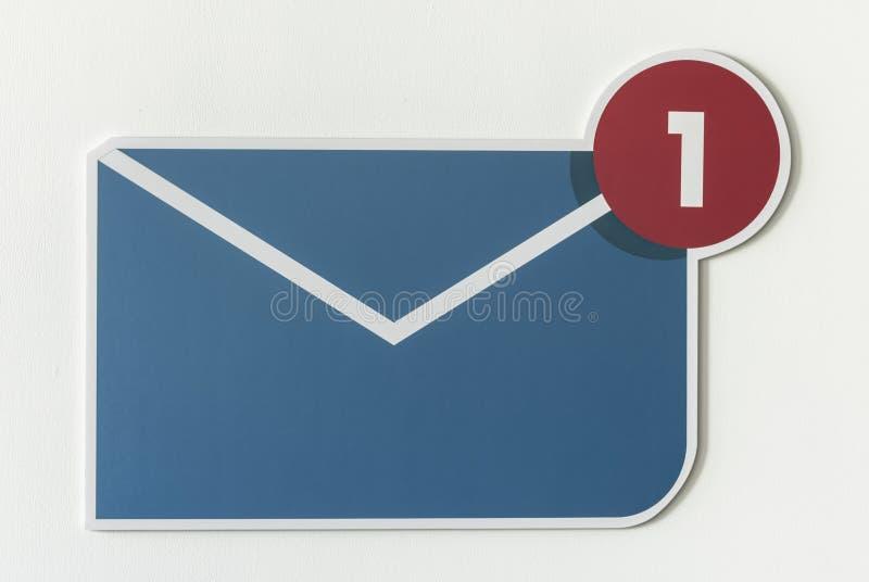 Nieuw inkomend berichte-mail pictogram royalty-vrije stock afbeelding