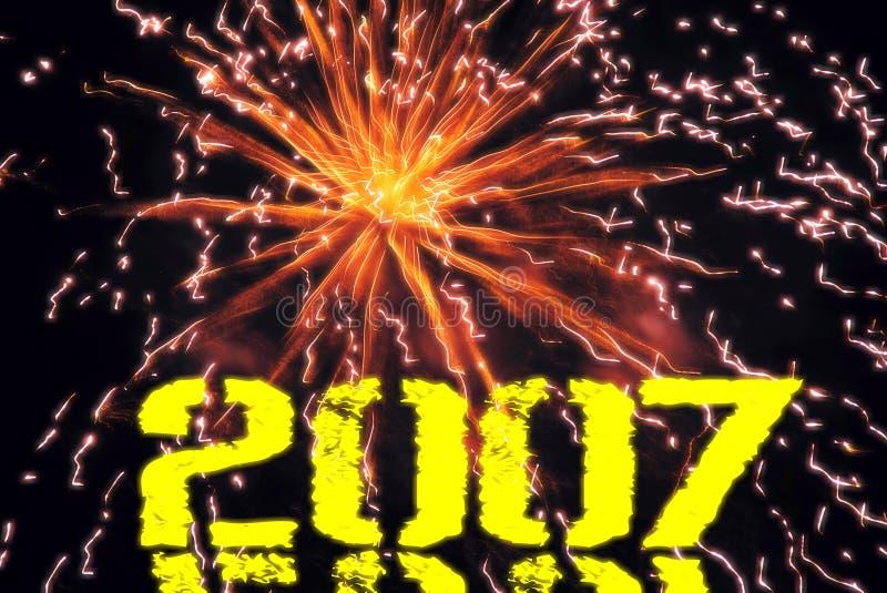 Nieuw jaar stock illustratie