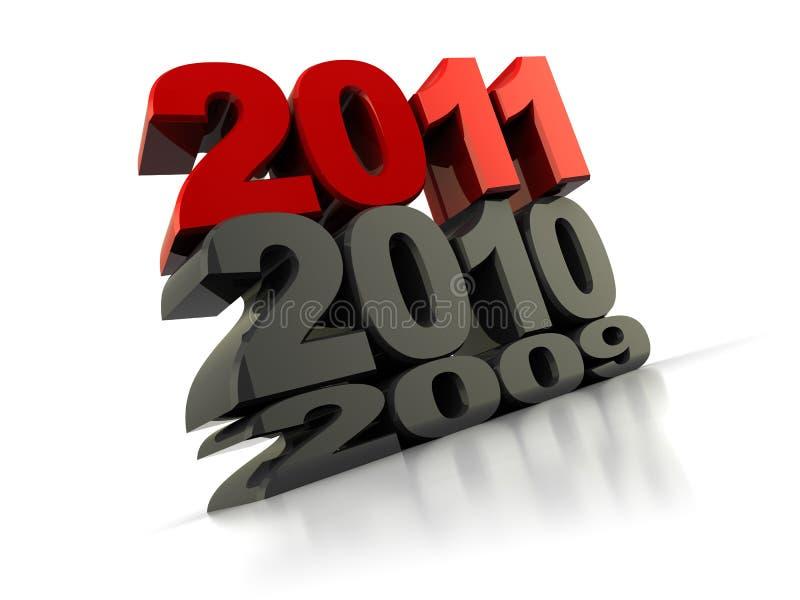 Nieuw jaar royalty-vrije illustratie