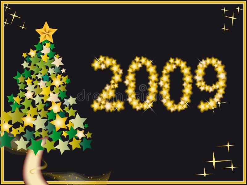 Nieuw jaar 2009 stock illustratie