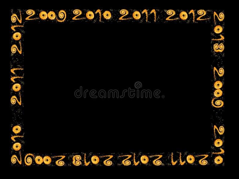 Nieuw jaar 2010, 2011, 2012, 2013 - frame royalty-vrije illustratie