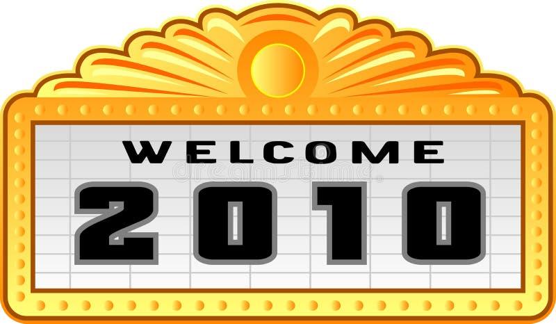 Nieuw jaar 2010 teken royalty-vrije illustratie
