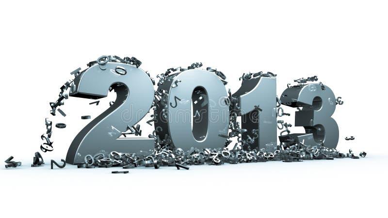 Nieuw jaar 2013 vector illustratie