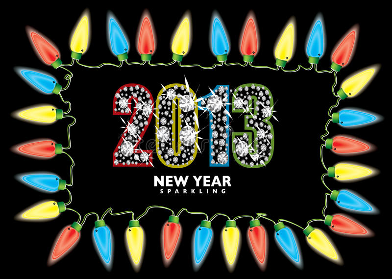 Nieuw jaar 2013 feelichten vector illustratie