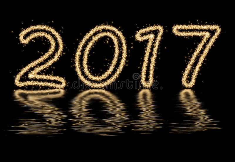 Nieuw jaar 2017 stock afbeelding