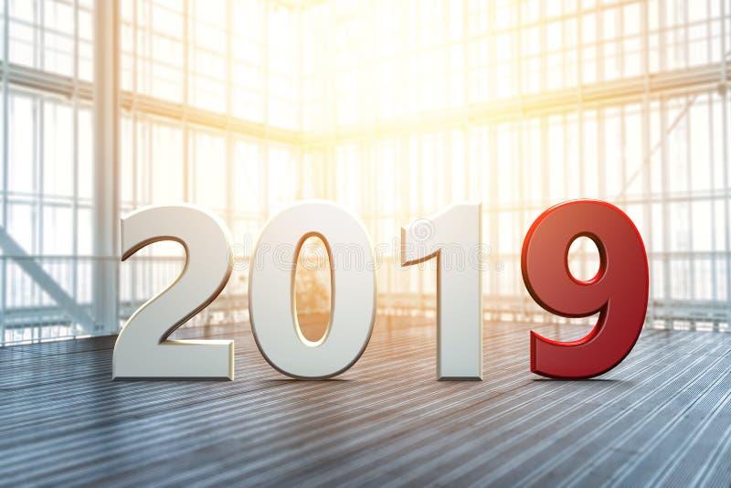 Nieuw jaar in een lege ruimte stock illustratie