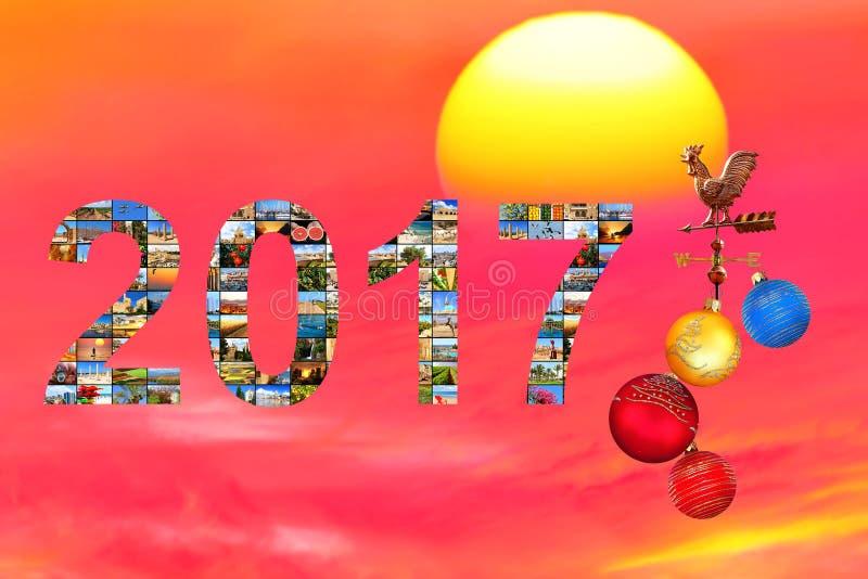 Nieuw jaar - nieuwe reis stock foto's