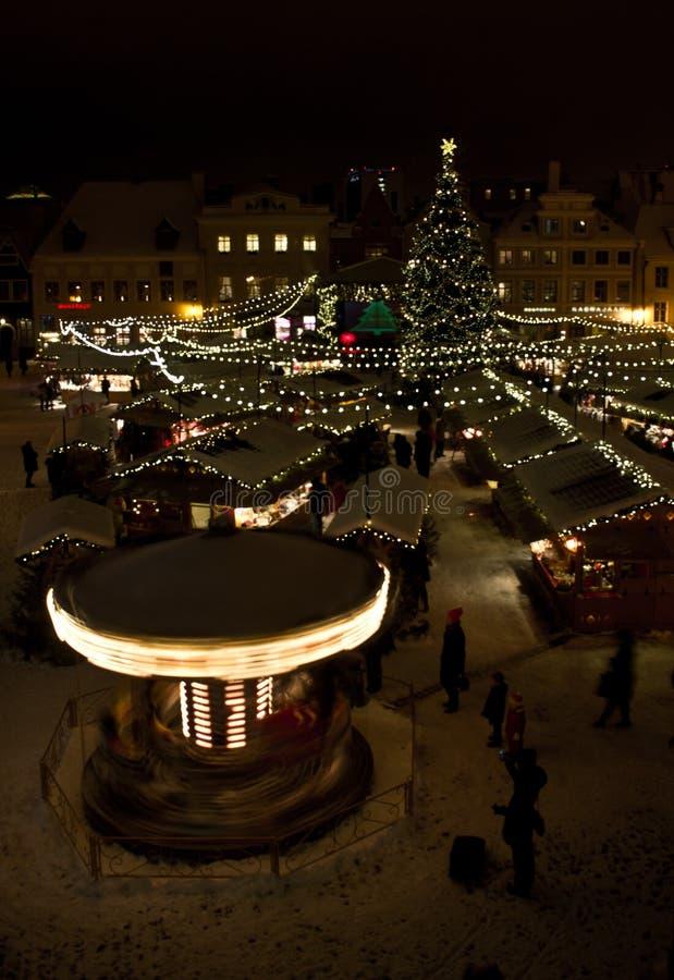 Nieuw jaar in Tallinn stock foto