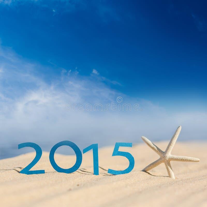 Nieuw jaar 2015 teken stock fotografie