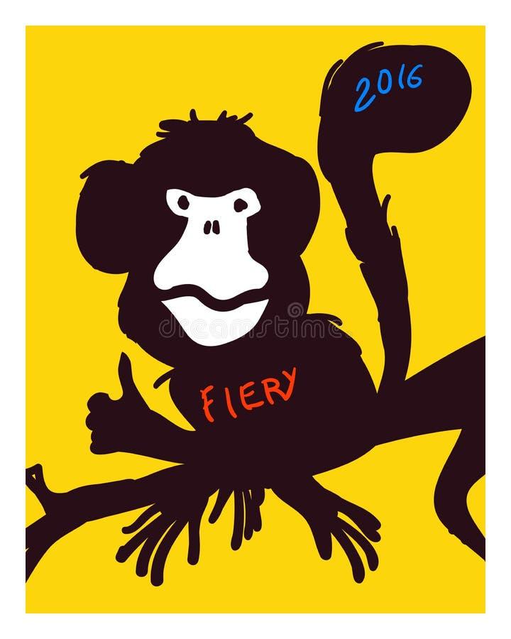 Nieuw jaar Vector illustratie stock illustratie