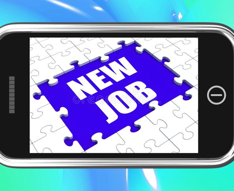 Nieuw Job Tablet Means Different Workplace of Beroep stock illustratie