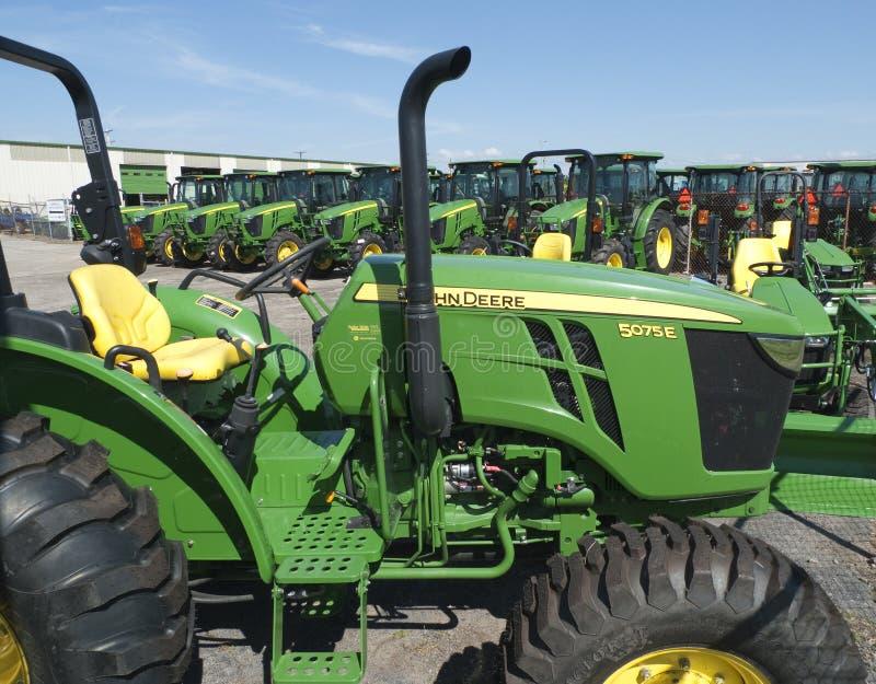 Nieuw John Deere Tractor, close-up royalty-vrije stock foto's