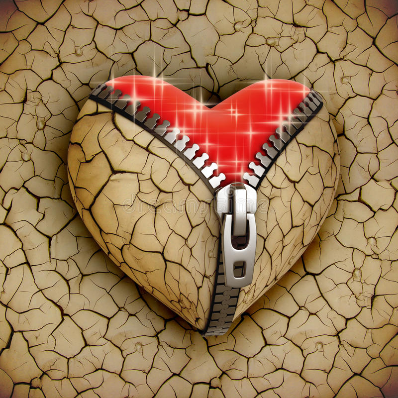 Nieuw liefde 3d concept stock illustratie