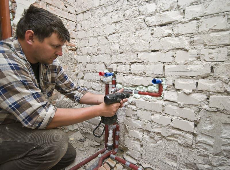 Nieuw loodgieterswerk royalty-vrije stock foto's