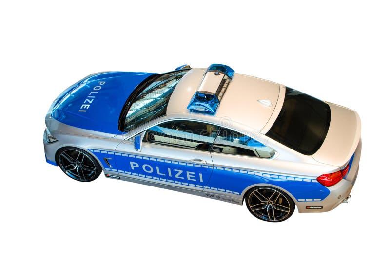 Nieuw model 2014 van Duitse politiepatrouillewagen royalty-vrije stock foto