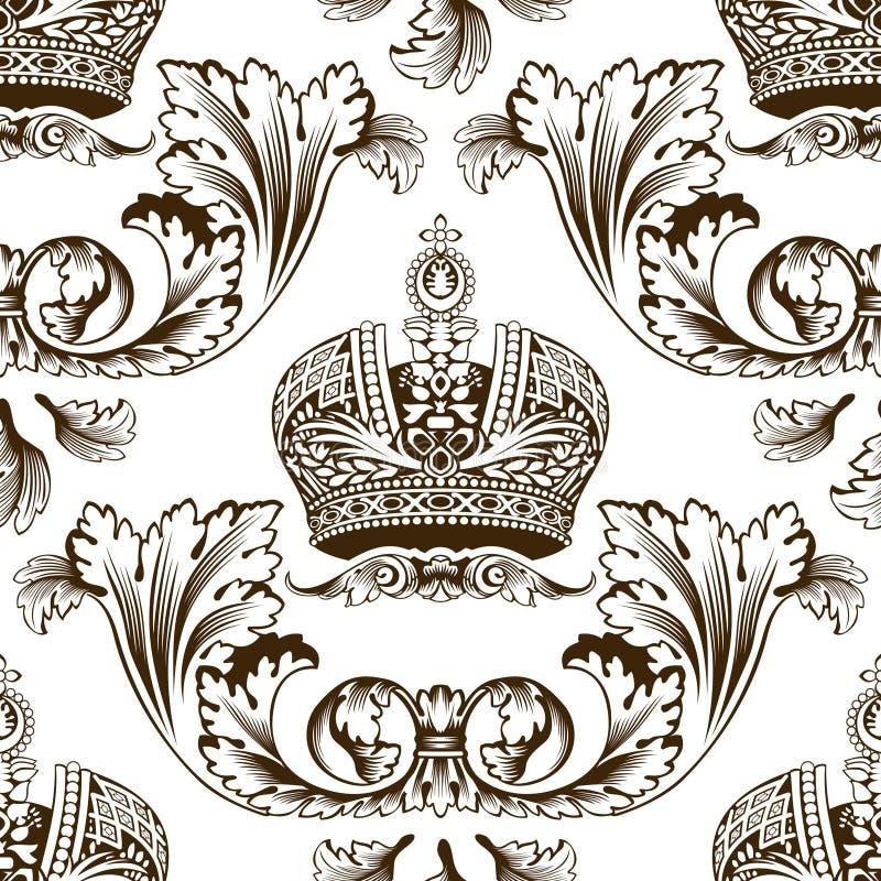 Nieuw naadloos decor keizerornament royalty-vrije illustratie