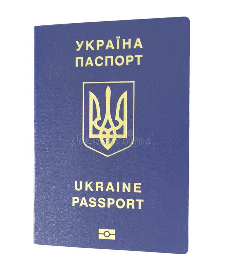 Nieuw Oekra?ens biometrisch paspoort stock afbeelding