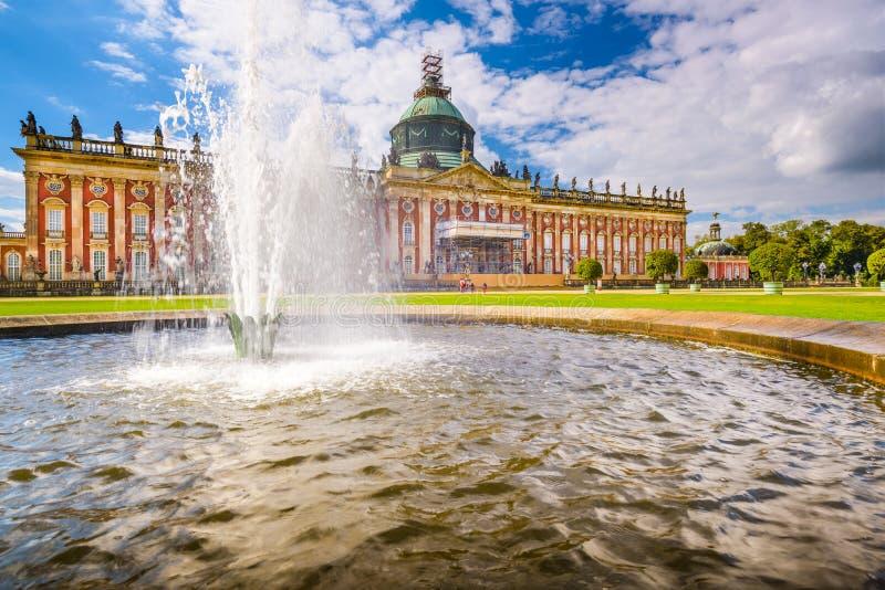 Nieuw Paleis in Potsdam stock afbeeldingen