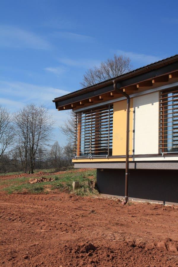 Nieuw passief huis stock afbeelding