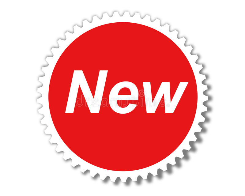 Nieuw pictogram stock illustratie