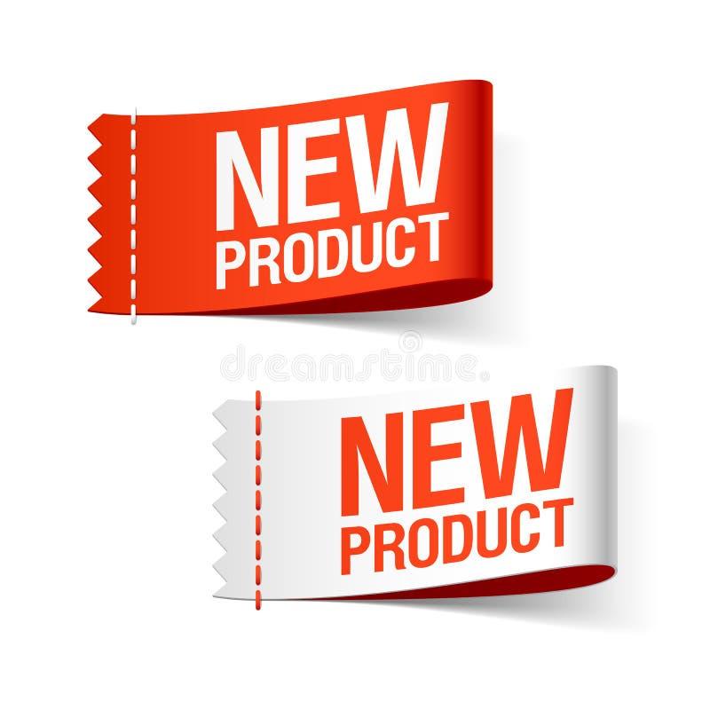 Nieuw productetiketten stock illustratie