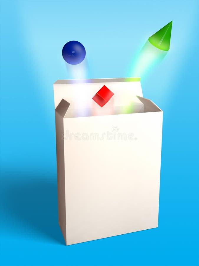 Nieuw productpakket stock illustratie