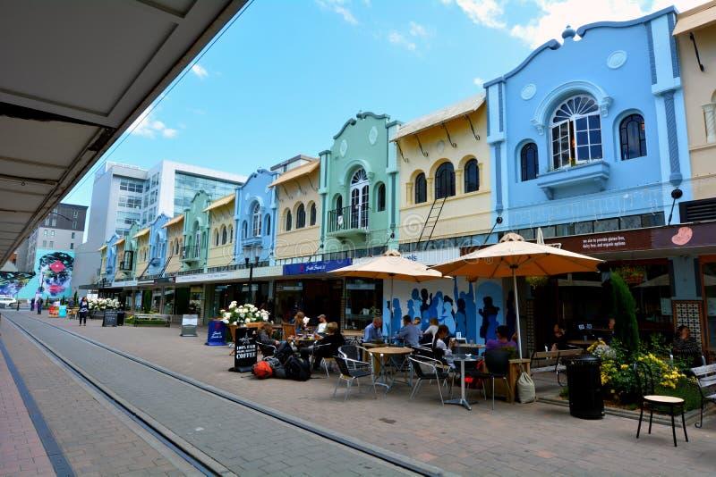 Nieuw Regent Street in Christchurch - Nieuw Zeeland stock foto's