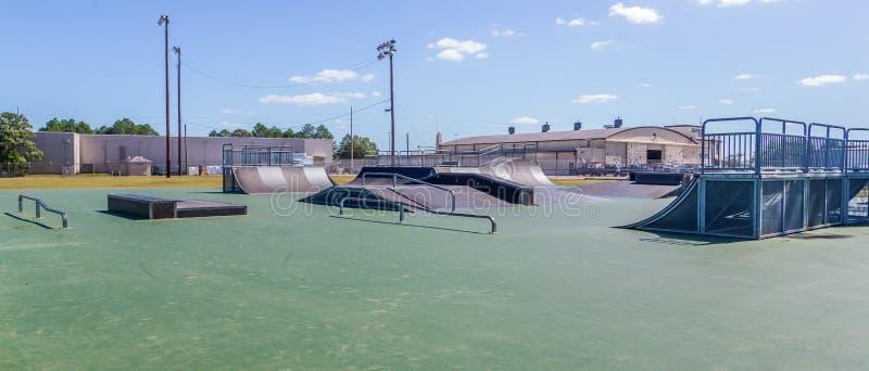 Nieuw Skateboardpark Montgomery, Alabama stock foto