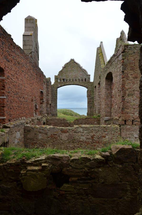 Nieuw Slains-Kasteel, Aberdeenshire, Schotland stock afbeelding